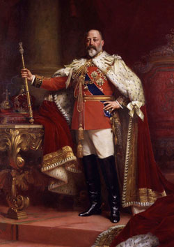 Edward VII portrait by Sir Samuel Luke 1902
