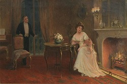 By the fireside by Sydney Percy Kendrick(1874-1955,British)
