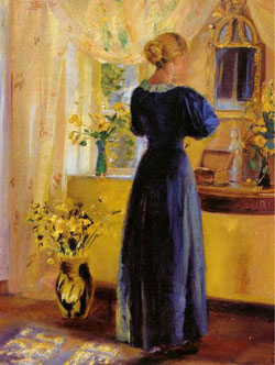 Young Woman in front of a Mirror by Anna Ancher 1899