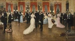Soiree by Jean Beraud (1849-1935,French)