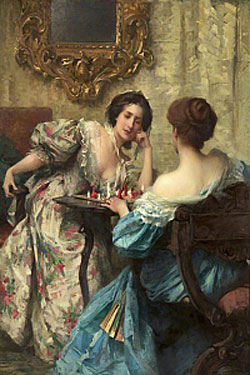 The Chess Players 1903 by Samuel Melton Fisher(1859-1939)