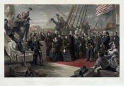 Queen Victoria visits HMS Resolute, December 16, 1856.