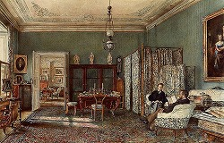 The Morning Room of the Palais Lanckoronski, Vienna by Rudolf von Alt(1812-1905,Austrian)