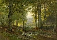 Waldbach by Heinrich Bohmer (1852-1930,German)