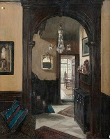 Interior by Mary Dawson Elwell (1874-1952 British)