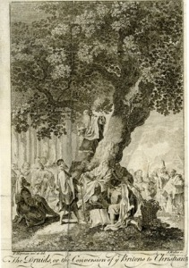 """""""The druids; or the conversion of the Britons to Christianity"""". Etching by A. Walker © The British Museum"""