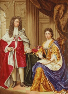 Anne with her husband, Prince George of Denmark, painted by Charles Boit, 1706