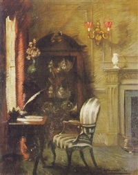 The writing desk by Albert Chevallier Tayler (British, 1862-1925)