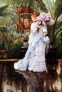 The Bunch of Lilacs by James Tissot(1836-1902)