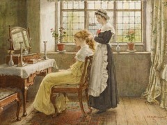 La toiletteby George Goodwin Kilburne(British, 1839-1924)