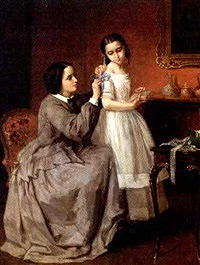 The final touch by Jules Trayer (franzosisch, 1824-1908)