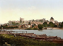 Photochrom of Windsor and Windsor Castle looking across the Thames, 1895