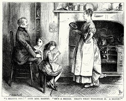 """From """"Bleak House"""" by Charles Dickens; illustrations by F. Barnard. Published by Chapman and Hall, London, and printed by Virtue & Co, London c1870."""