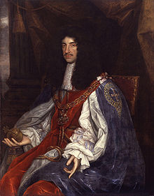 Charles in Garter robes by John Michael Wright or studio, c. 1660-1665