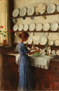 The lady of the house by William Henry Margetston(1861-1940)