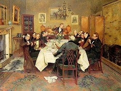 The Bagman's Toast 'Sweethearts and Wives' by Walter Dendy Sadler(1854-1923,English)