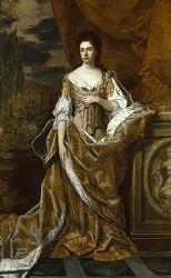 Queen Anne by Sir Godfrey Kneller, Bt(1646-1723) in National Portrait Gallery