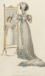 Court Dress by Rudolph Ackermann (England, 1764-1834)
