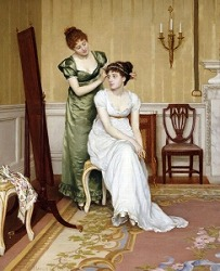Preparing for the ball by Charles Haigh-Wood (British, 1856-1927)
