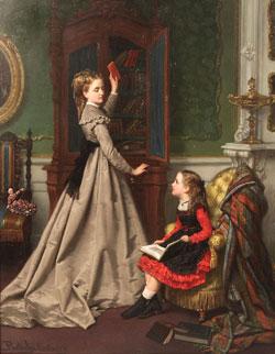 Reading by Jan Portielje 1829-1908