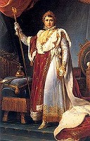 Napoleon in Coronation Robes by Francois Gerard  (1770-1837 France, Rome)