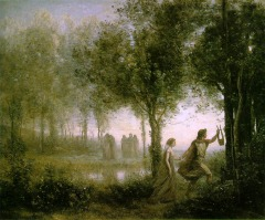 Orpheus Leading Eurydice from the Underworld by Jean-Baptiste Camille Corot(1796-1875,French)