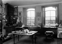 General interior of Charles Darwin's study, Down House in Kent