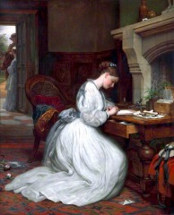 Yes or No? Charles West Cope (1811–1890), Walker Art Gallery