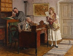 Die entzuckten Postbeamten by Adolf Reich (1887-1963,osterreichisch)