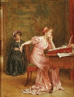 The answer by George Goodwin Kilburne (British, 1839-1924)