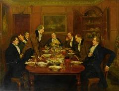 Returning thanks by Walter Dendy Sadler (British, 1854-1923)