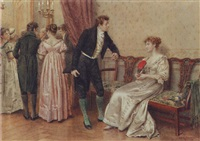 """May I have the pleasure?"" by George Goodwin Kilburne (British, 1839-1924)"