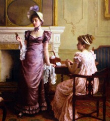 Thoughtful Moments by Charles Haigh-Wood Charles Haigh-Wood (British, 1856-1927)