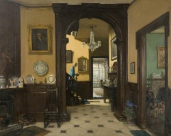 My Neighbour's House by Frederick William Elwell (1870-1958, British) c the artist's estate. Photo credit: Bristol Museums, Galleries & Archives