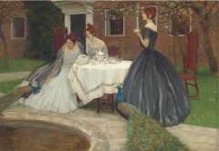 Sisters , 1908 by Leonard Campbell Taylor (1874 - 1969, British)