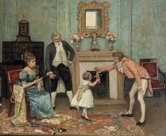 El regalo by Eduardo Leon Garrido (1856-1949,Spanish)