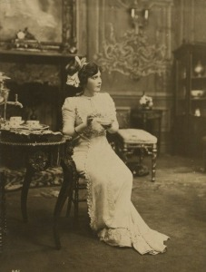 Victorian lady in tea time