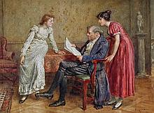 Interesting News by George Goodwin Kilburne (British, 1839-1924)