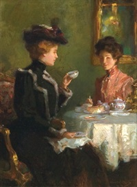 A cup of tea , 1904 by Walter Granville-Smith (1870-1938)