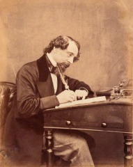 Dickens at his desk, 1858