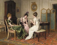 """""""The fortune teller"""" by Charles Haigh-Wood(British, 1856-1927)"""