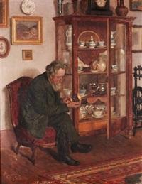 The connoisseur by Adolf Reich (Austrian)