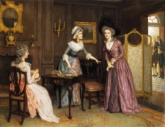 Two strings to her bow by Charles Haigh-Wood (1856-1927)