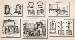 Illustrations from the James Shoolbred & Company's 1876 catalogue
