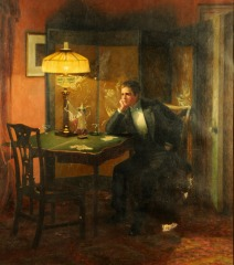 19th century painting, 'The Gambler'