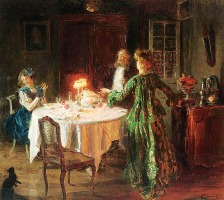 The dinner party by Jules Alexandre Grun