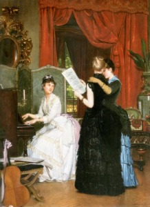 Le Concert by Louis Edmond(1833-1880)
