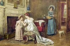 Going Shopping by George Goodwin Kilburne (British, 1839-1924)