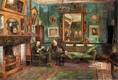 Rossetti and Theodore Watts-Dunton at 16 Cheyne Walk by Henry Treffry Dunn (1838–1899)