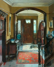 The Front Door by Mary Dawson Elwell(1874-1952 British)